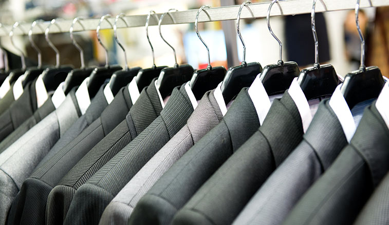 Suits on the rack