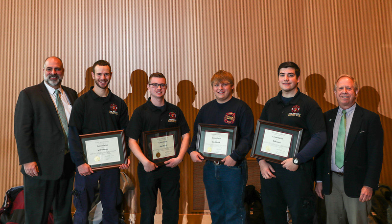Student volunteer fire fighters recognized