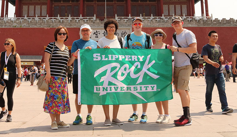 Students and faculty in China