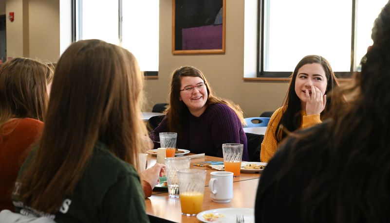 Students enjoy conversation