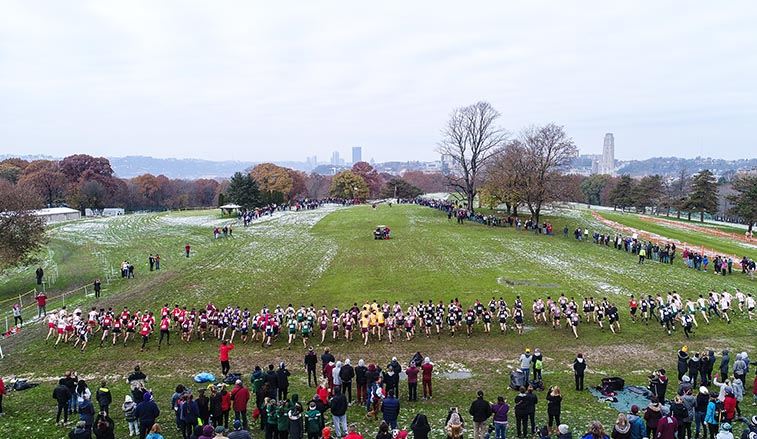 The Men's Atlantic Regional race at the start