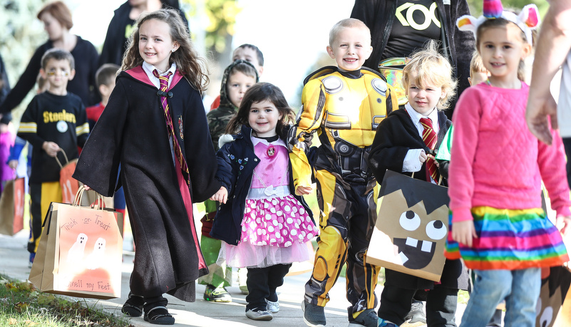 Pre-School kids dressed up for halloween