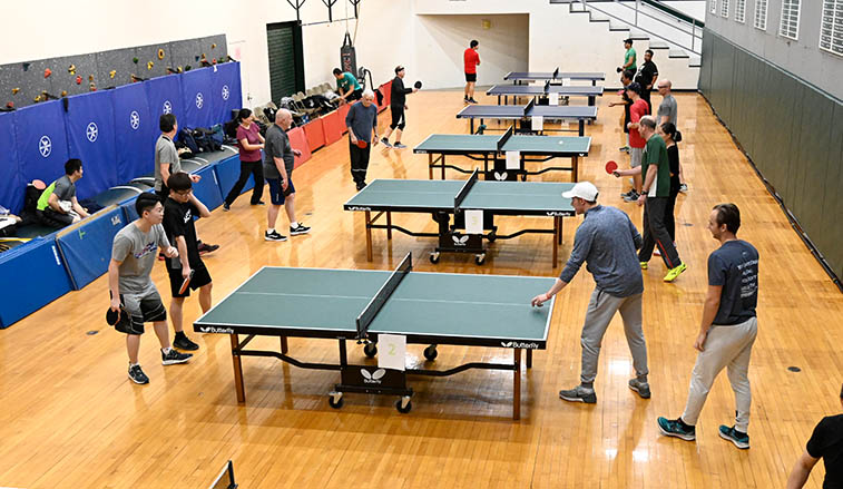 Ping pong tournament on campus