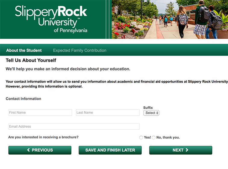 sru student aid calculator screenshot