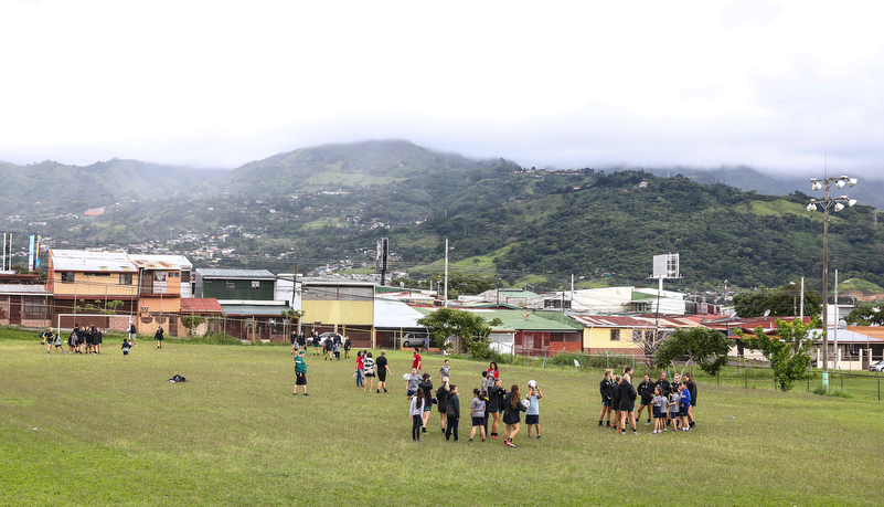 THe school soccer field