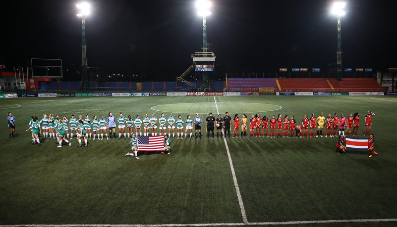 the teams prior to the game