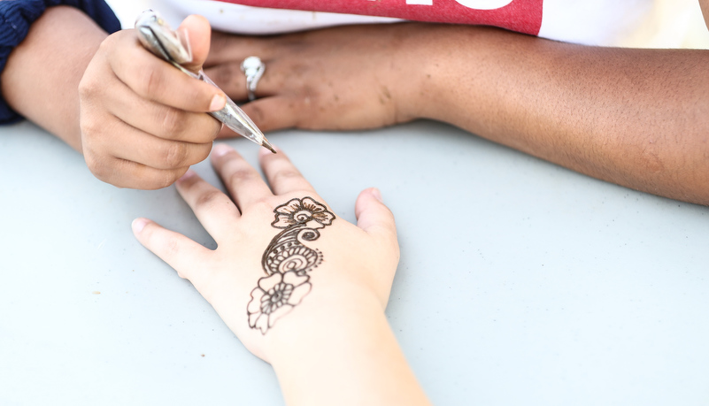 Henna Tattoo being applied