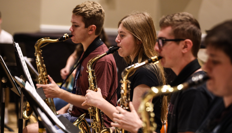 Students playing Jazz music