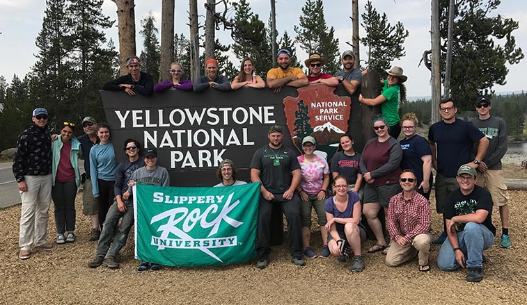 Students at Yellowstone Park