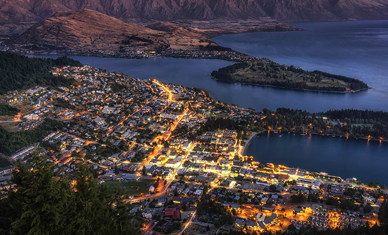 New Zealand at night