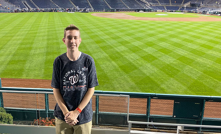 Hunter Malseed, a Slippery Rock University sophomore sport management major from Harrisburg, worked three games of the World Series at Nationals Park in Washington Oct. 25-27.