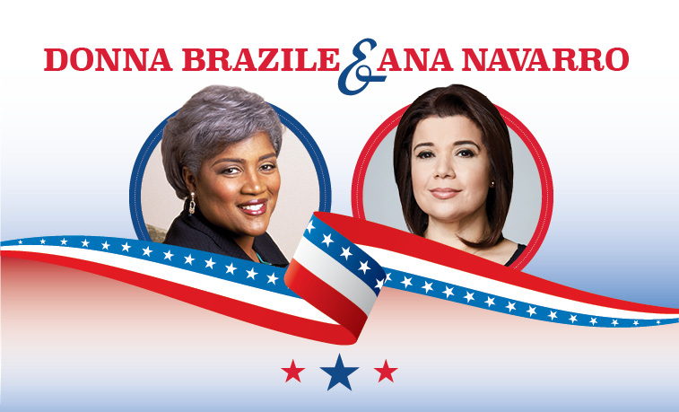 "Slippery Rock University will present ""Crossing the Political Divide with Donna Brazile and Ana Navarro"" at 7:30 p.m., Nov. 19, in the Smith Student Center Ballroom."