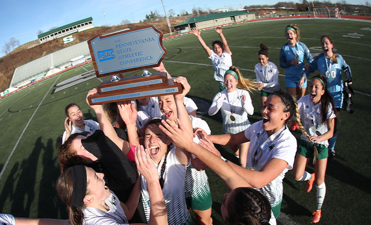 The Slippery Rock women's soccer team earned the No. 2 seed in the Atlantic Region for the NCAA Division ll playoffs when the selection committee announced the 56-team playoff field Monday evening.