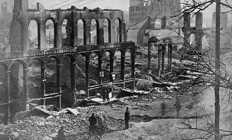 the aftermath of the great Chicago Fire