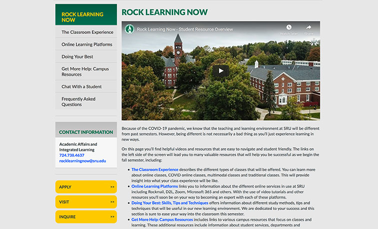 Rock Learning Now page