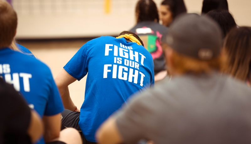 Showcasing His Fight Is Our Fight shirt