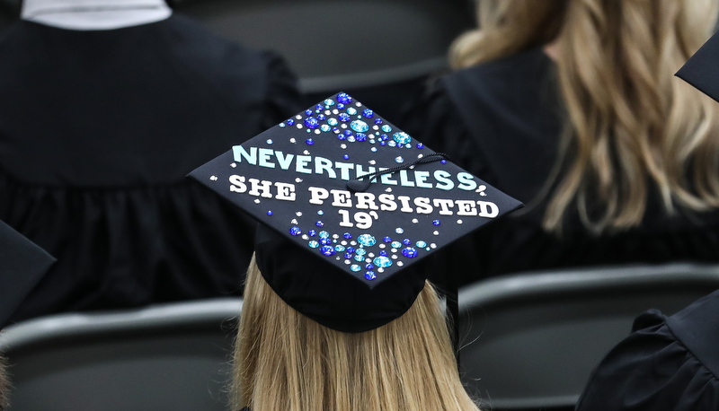cap that says neverless she persisted