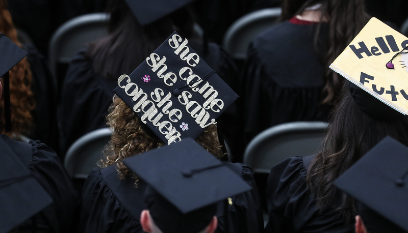 Cap that says She came, she saw, she conquered