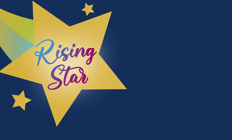 Rising star graphic