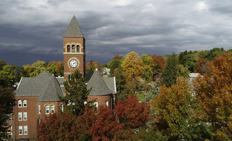 Old Main and the fall colors